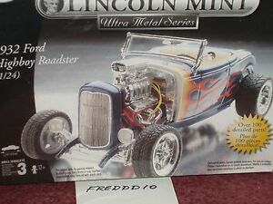 Diecast Metal Lincoln Mint 1932 Ford Highboy Roadster Model Kit 124
