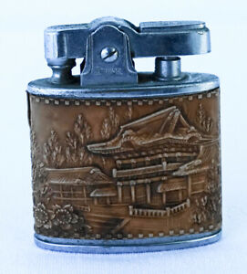 1950-039-s-Japan-Damascene-Automatic-CIGARETTE-SUPER-LIGHTER-by-Prince-Mfg