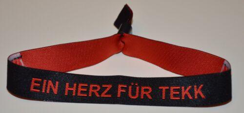 """Stoffbändchen /""""Ein Herz für Tekk/"""""""