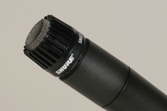 ONE (1) NEW SHURE SM57 DYNAMIC MICROPHONE drum tom snare hi-hat guitar amp mic