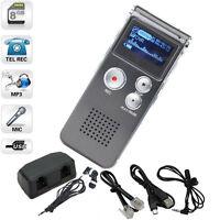 Usb 2.0 Digital Dictaphone 8gb Monitor Telephone Audio Voice Recorder Us
