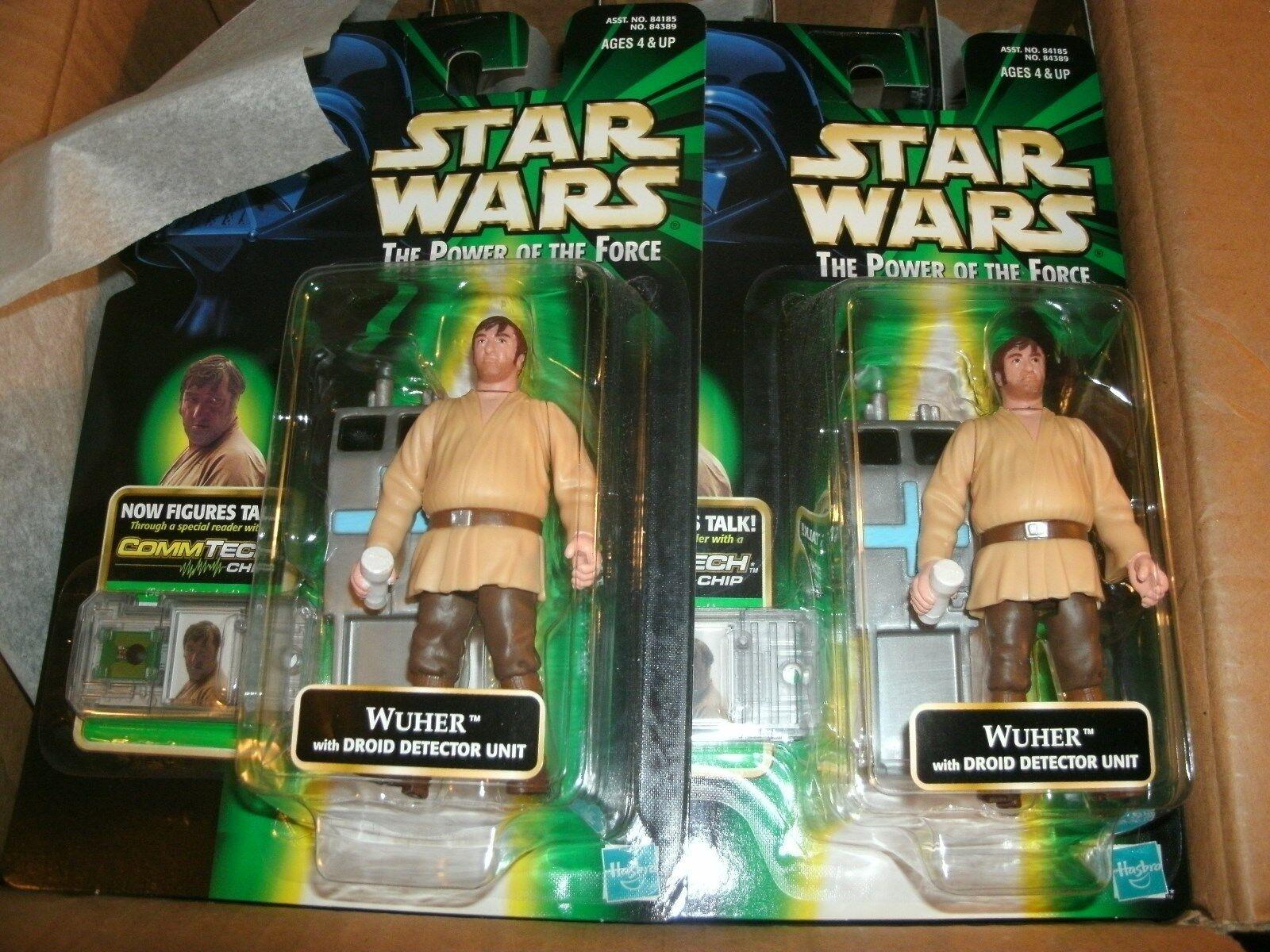 HASBRO STAR WARS POTF WUHER fan club figure moc 2 cases factory sealed..