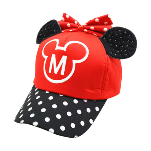 Kids Girls Boys Cartoon Mickey Minnie Mouse Baseball Caps Sun Hats Snapback
