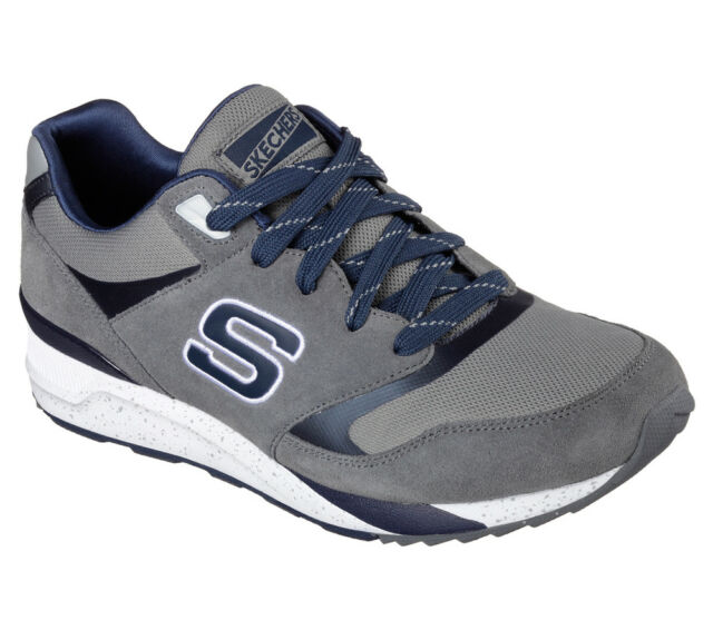 e7cb05bf26e4 NEW SKECHERS Men Sneakers Trainers Memory Foam Sports Gym Lace Up OG-90 grey