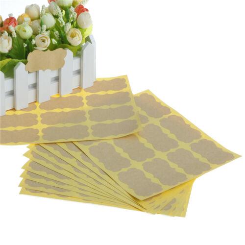 120Pcs hágalo usted mismo Pegatina sello etiqueta Kraft en Blanco Vintage Adhesivos Para Embalaje De Regalo Oi