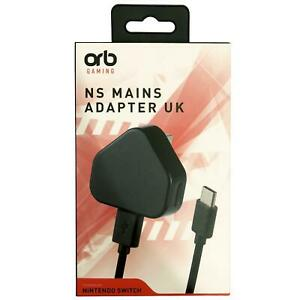 Orb-Gaming-Nintendo-Interruttore-3-Pin-UK-Mains-Adattatore-Con-Usb-C-Connettore