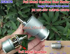 DC12V~24V 13RPM Large Torque ZGB37R Mini Slow Speed Reduction Gearbox Gear Motor