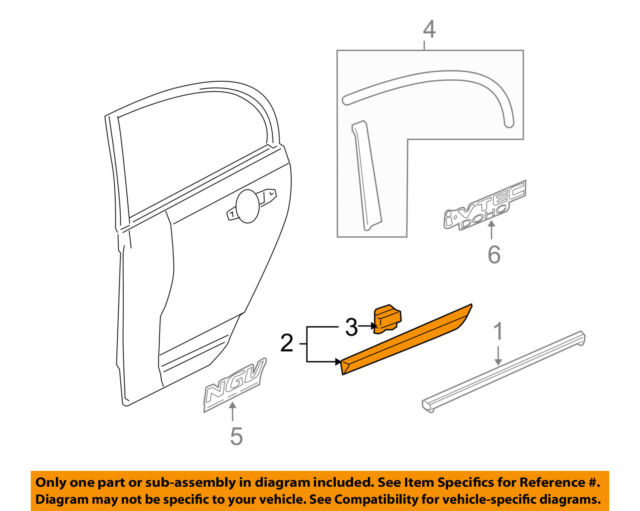 Right Rear Genuine Honda 75303-SNE-A01ZA Door Protector