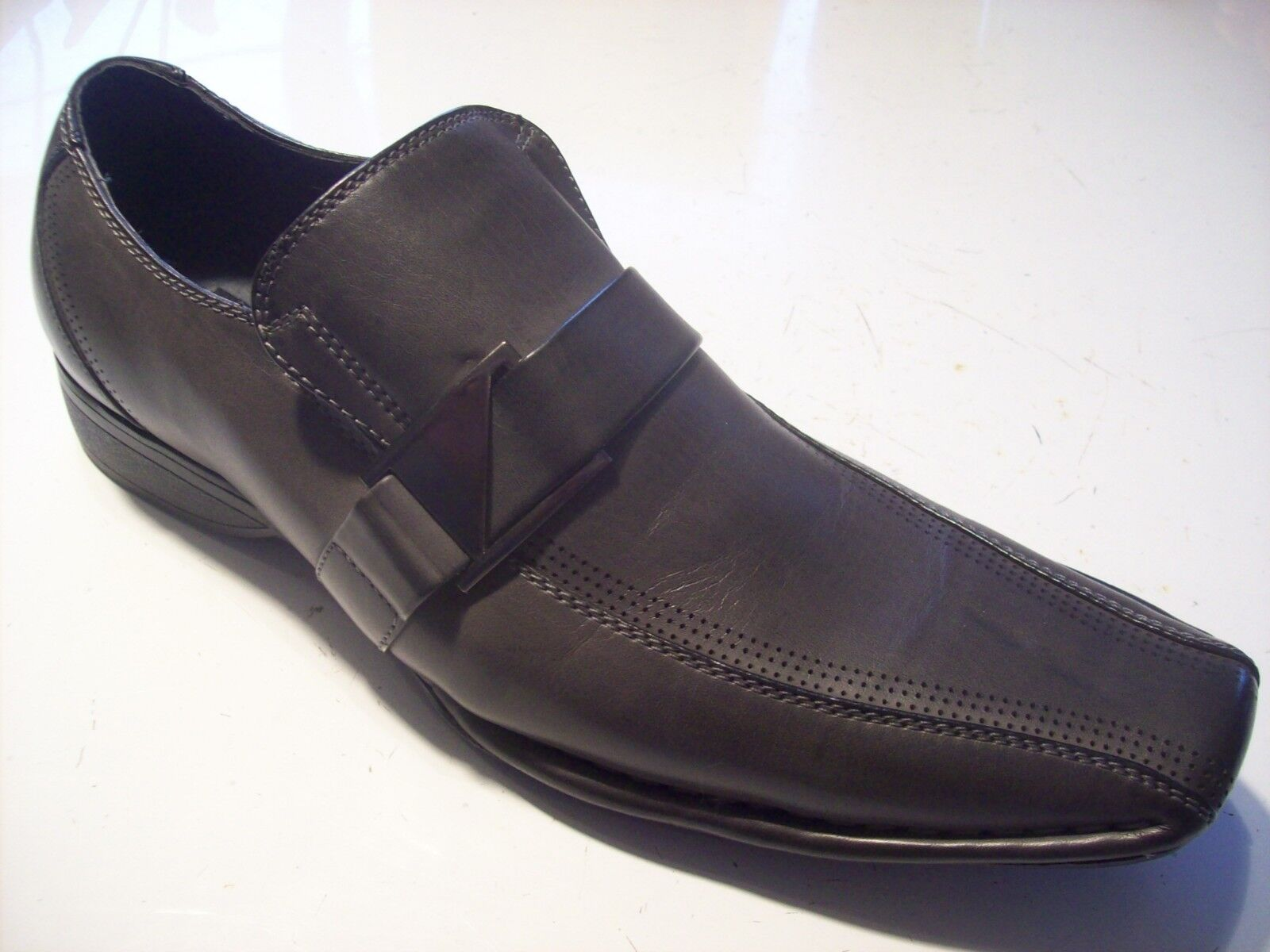 Madden Rockir 9 Gray Leather Loafers Oxfords Mens Shoes Size 9 Rockir 9.5 @ cLOSeT f504d7