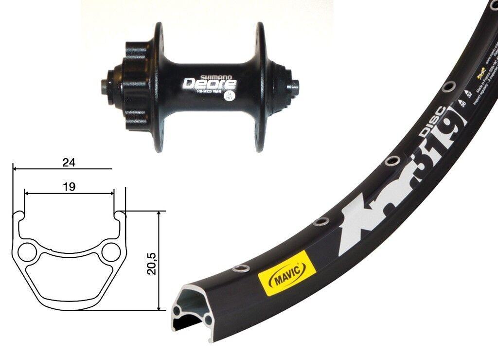 Bike-Parts 29″ Rueda Delantera Mavic XM 319 Disc + Shimano Deore 6-agujero ( Qr