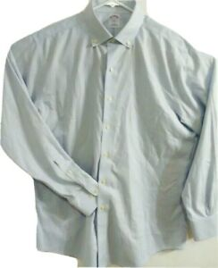 Brooks Brothers 346 Mens Size Large 16 1/2-4/5 Long Sleeve Striped Button Shirt
