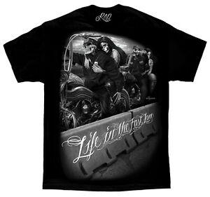 Fast-Lane-Ride-Or-Die-David-Gonzales-Art-DGA-T-Shirt