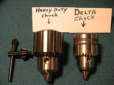 "HEAVY DUTY 1//2/"" KEY LESS DRILL CHUCK UPGRADE FOR DELTA 14-040 Type 1 DRILL PRESS"