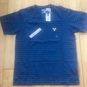"Kaws x Uniqlo "" BFF "" Striped Tee / Blue  / Size M"