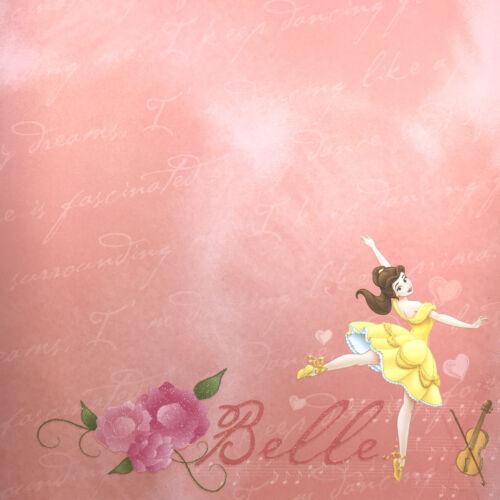Belle Dancing 2pc Scrapbook Paper 12x12 Disney SandyLion