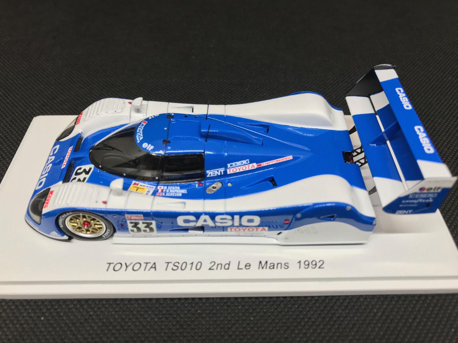 1 43  Toyota TS010  33 Sekiya Raphanel Acheson 2nd 24h Le Mans 1992 Spark S7703  meilleure réputation
