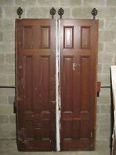~ SET OF ANTIQUE POCKET DOORS 58 x 96 ~ARCHITECTURAL SALVAGE