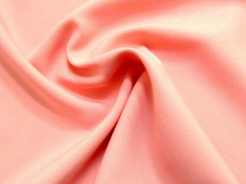 Terrific PINK SHRIMP Poly-Silk Look Solid Light Weight Fabric