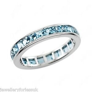 Platinum-Princess-Cut-Aquamarine-Full-Eternity-Wedding-Band-5-00cts-5-5mm-Wide