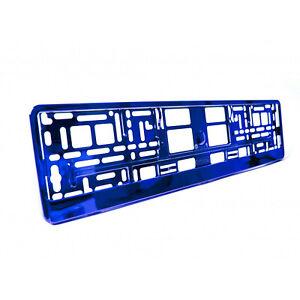 2-x-Placa-de-numero-de-ABS-Universal-Azul-Metalico-rodea-titulares-Marcos-M