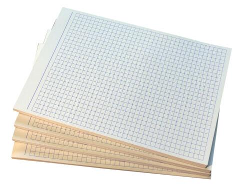 22300 karierte Blocks DIN A6-80g//m² Offset in Blau 10x Notizblock kariert