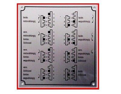 MTS Belarus Schaltung Hinweisschild 85 x 50 Schaltschema ANSEHEN LOHNT SICH--NEU