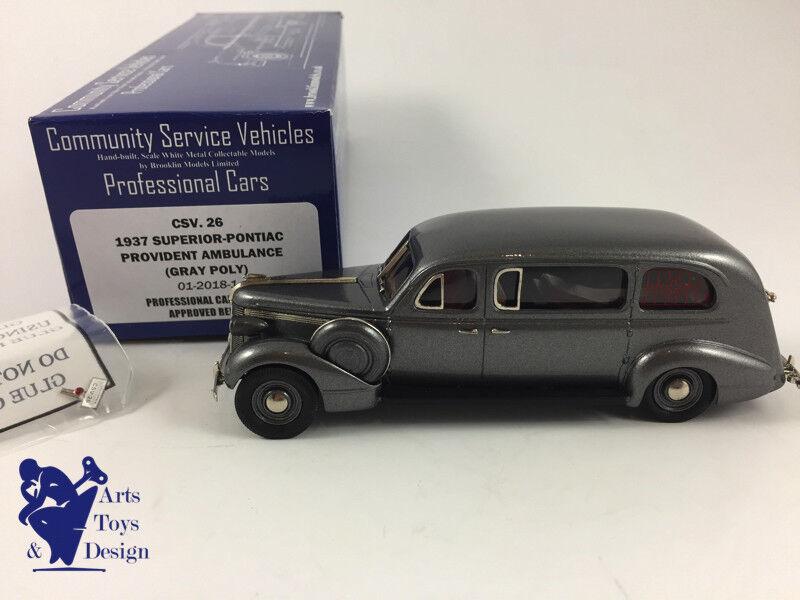 la calidad primero los consumidores primero 1 1 1 43 BROOKLIN CSV 26 súperIOR PONTIIAC AMBULANCE 1937  clásico atemporal