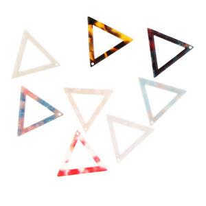 Details about 10pcs Bohemian Hollow Out Triangle Shape Geometric Drop  Earrings DIY Crafts