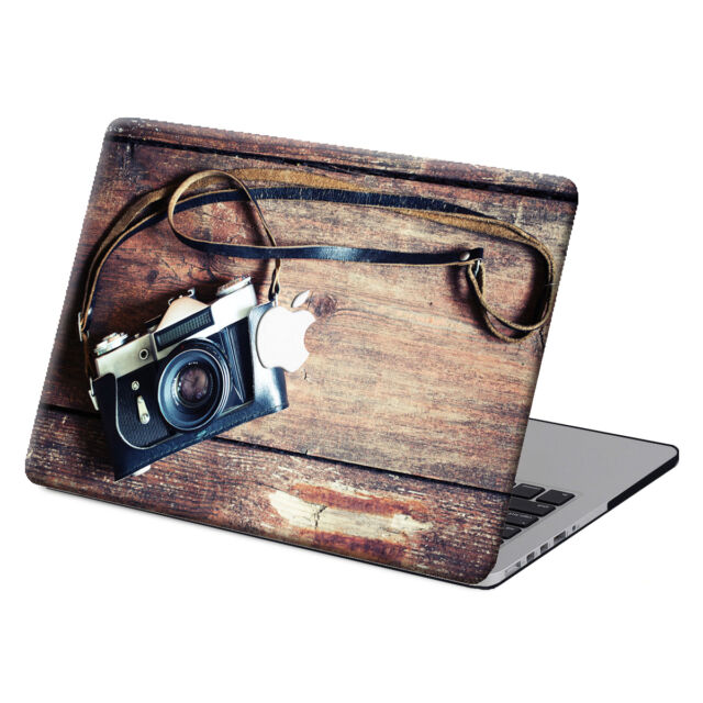 """3IN1 Wood Painting Hard Rubberized Case Cover For Macbook Pro Air 11""""13""""15"""" 12"""""""