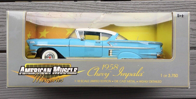 Ertl 1   18 amerikanischen muskel 1958 blauen chevy impala ltd bearbeiten 1   3750 posten 32286 f   s