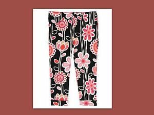 NWT-5-6-gymboree-PURRFECTLY-FABULOUS-black-peach-CROPPED-PANTS-JEANS