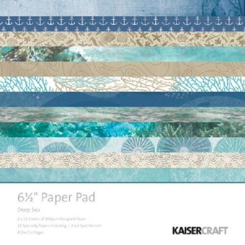 "Kaisercraft /'DEEP SEA/' 6.5/"" Paper Pad Ocean//Reef//Holiday KAISER PP1058"