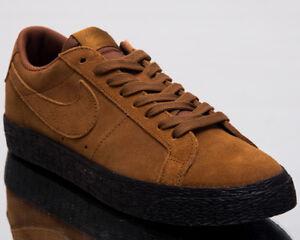 Nike SB Blazer Zoom Low British Tan Black 864347 200 New Men's Skate Shoes