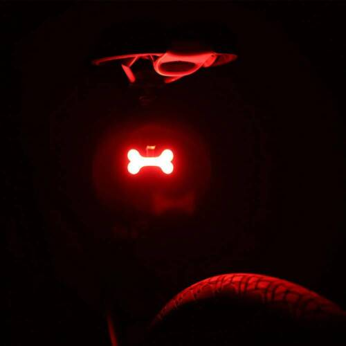 Round USB Rechargeable Bike Rear Light Tail Lamp LED Bicycle Warning Waterproof