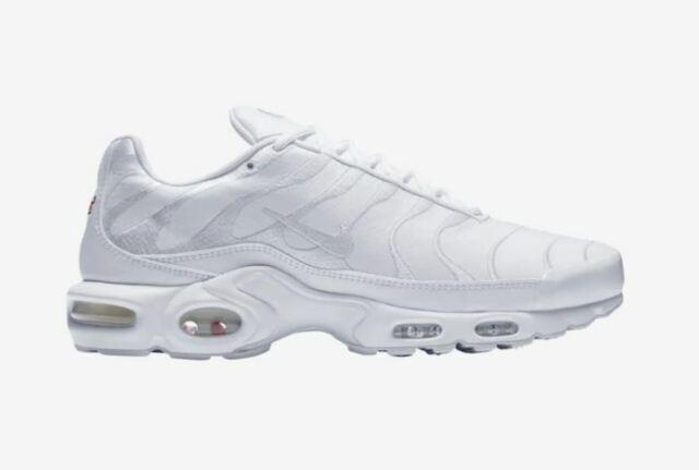 size 40 8f40c 29d75 Nike Air Max Plus TN AJ2029-100 Triple White Mens