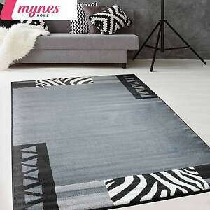 teppich modern kurzflor in designer grau in 160x220 f r wohnzimmer teppich neu ebay. Black Bedroom Furniture Sets. Home Design Ideas