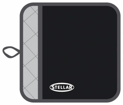 Stellar Plain Black or Red Quilted Oven Pot Mitt Holder STE01