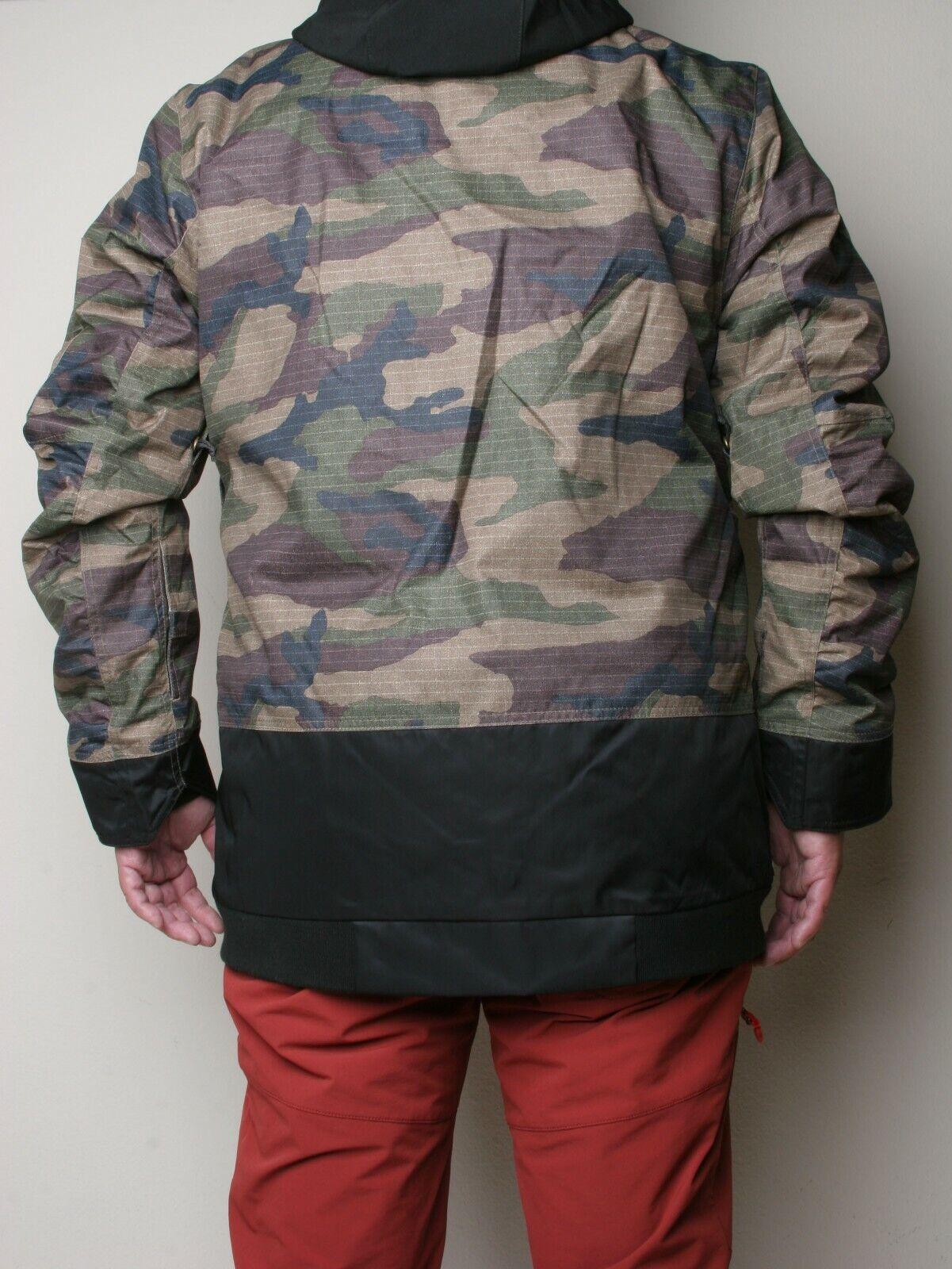 686 Bomber Insulated Snowboard Jacket (L) Dark CAMO Colorblock L9W123-CAMO
