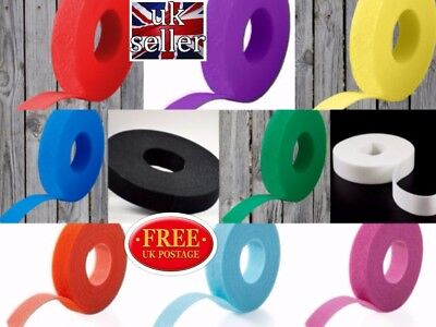 VELCRO Hook /& loop ONE-WRAP double sided Strapping//different colours 13mm x200mm
