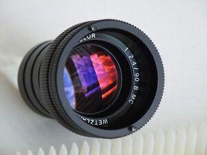 Projektionsobjektiv Kindermann Color 2,4-8/90 B-MC Wetzlar Abblendbar Germany!!!