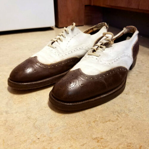 Vintage 30's/40's Brown/White 2-Tone Wingtips Shoe