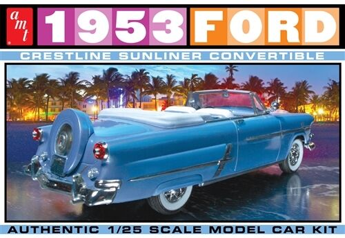 AMT 1953 Ford Crestline Sunliner Convertable 1/25 model car kit new 1026