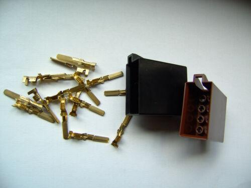 Radio ISO douilles Kit connecteur adaptateur d/'alimentation haut-parleur 2x 8 broches Rééquipement