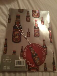 Male-Wrapping-Paper-Gift-Wrap-amp-Tag-Beer-New