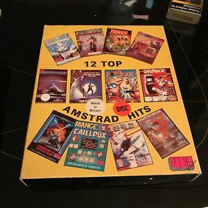 Ubi Soft 12 Top Game Hits jeu Amstrad cpc 6128 464 disk non testé + boite