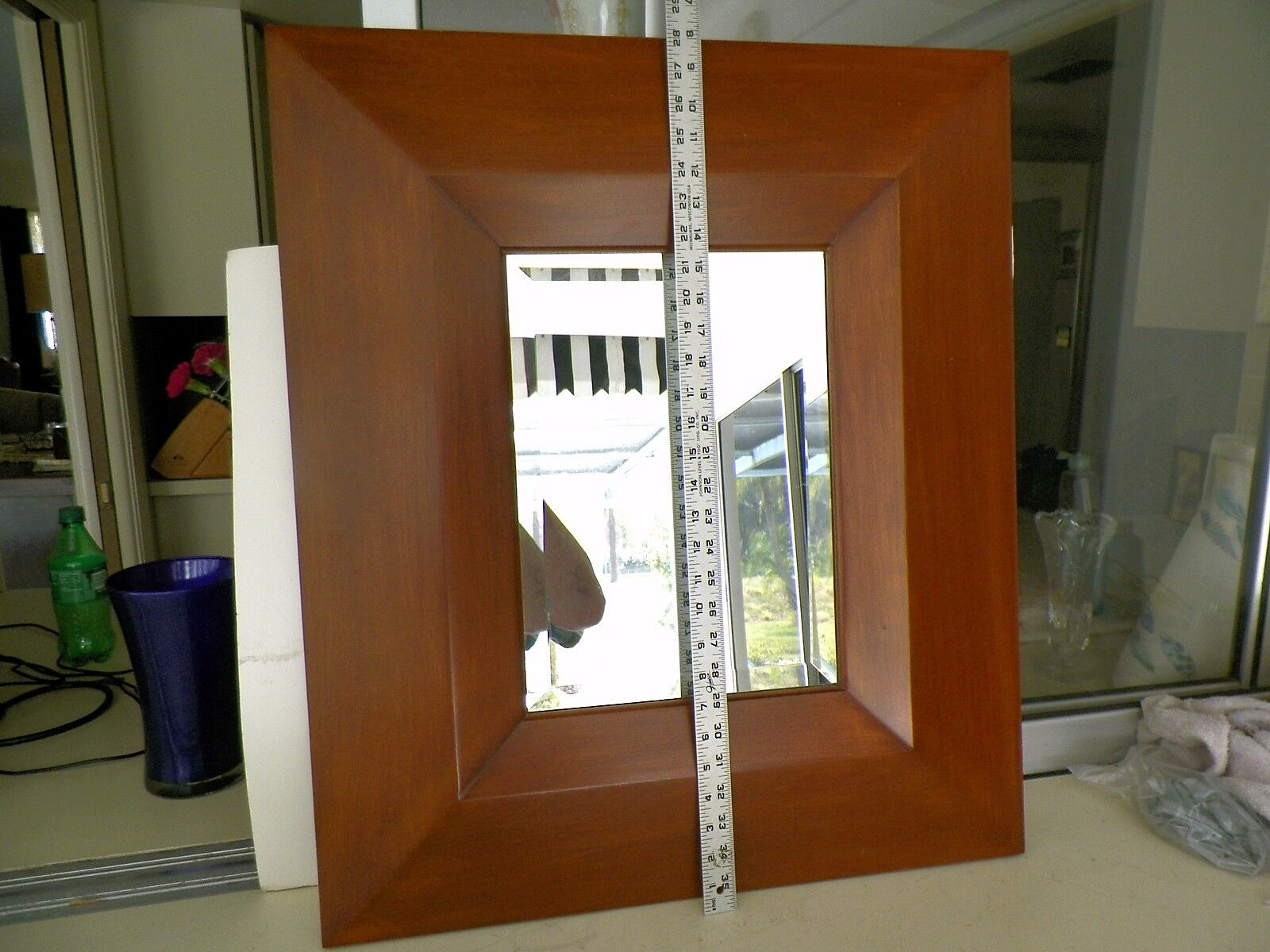 EXCELLENT CONTEMPORARY 24'' X 28'' BEVEL SIDES WALL MIRRORNO RESERVE