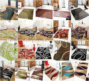 CLEARANCE-MODERN-TRENDY-QUALITY-COLOURFUL-SOFT-DENSE-PILE-RUGS-MATS