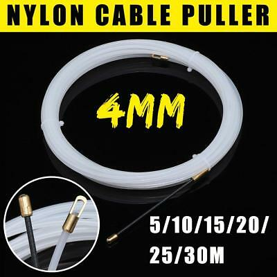 10//15//20//25//30M 3mm Nylon Wire Cable Rod Electrician Push Puller Duct Fish