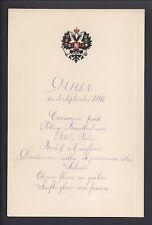 Imperial Russian Royal Menu for Tsar Nicholas II Livadia Chef Pierre Cubat 1898