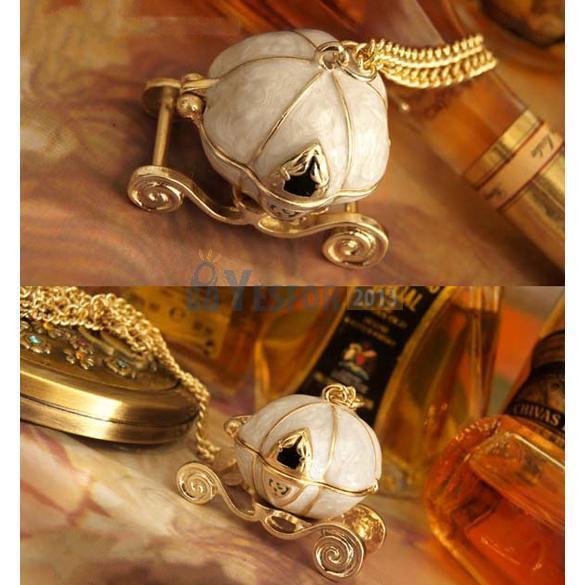 Cute Vintage Magical Cinderella's Pumpkin Carriage Long Necklace Pendants Gift